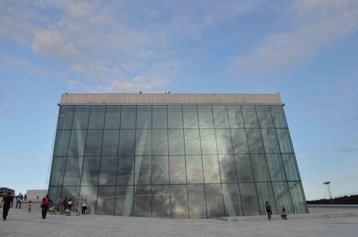 Il cielo di Oslo sull'Opera House