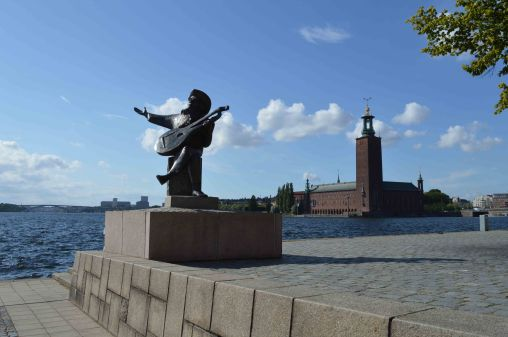 La vista dall'isola di Riddarholmen a Stoccolma