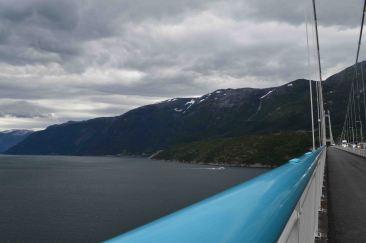 L'Hardangerfjord visto dal ponte