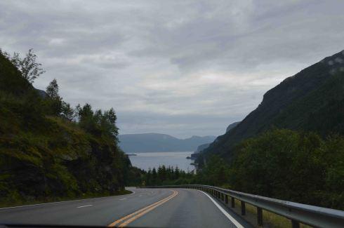 Sulla E39, avvicinandosi al Sognefjord