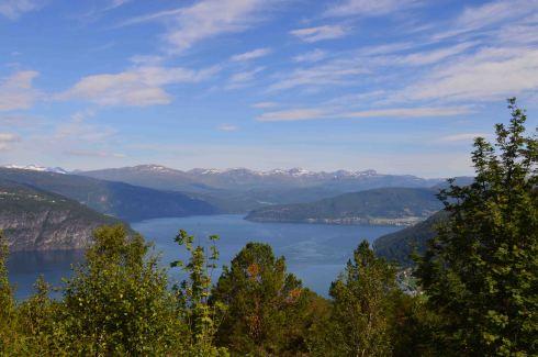 La vista mozzafiato sul Nordfjord