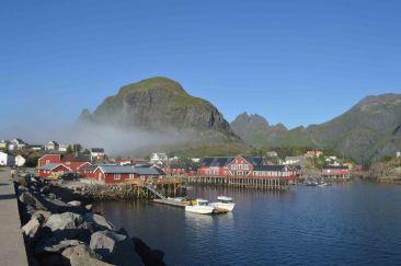 La nebbia avvolge ancora A i Lofoten