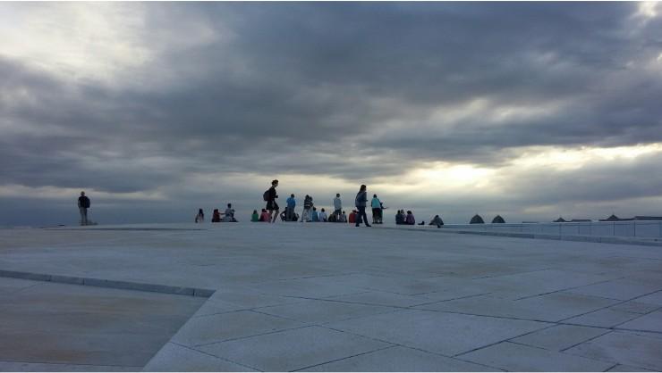 Sulla cima dell'Opera House, Oslo