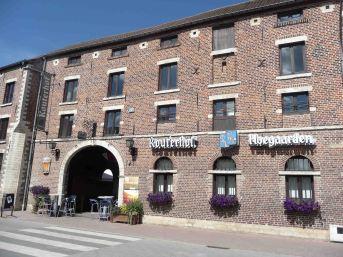 L'ingresso alla storica fabbrica Hoegaarden