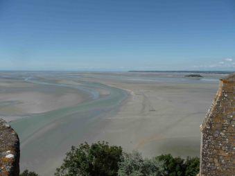 La baia di Mont-Saint-Michel con la bassa marea