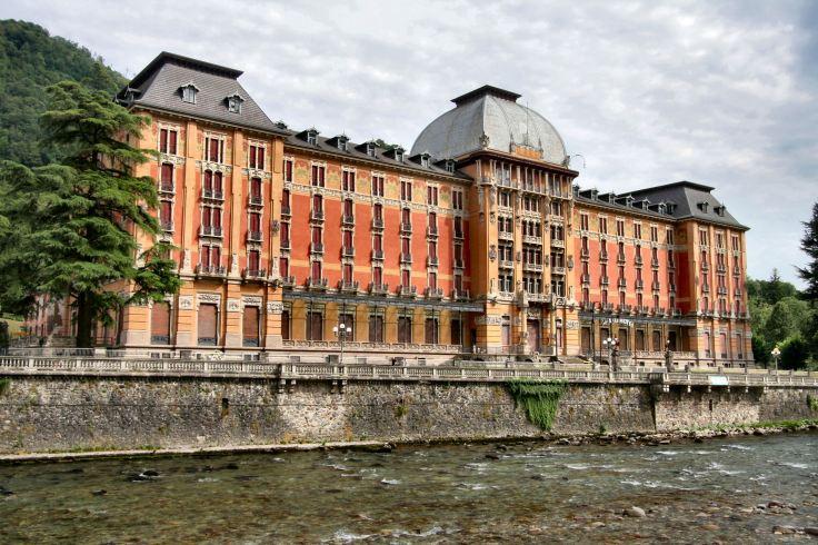 Il Grand Hotel, prima dell'intervento di consolidamento