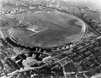 Vista aerea storica dell'aeroporto