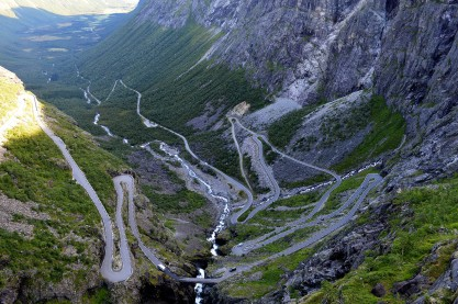 La Trollstigvegen ed i suoi 11 tornant
