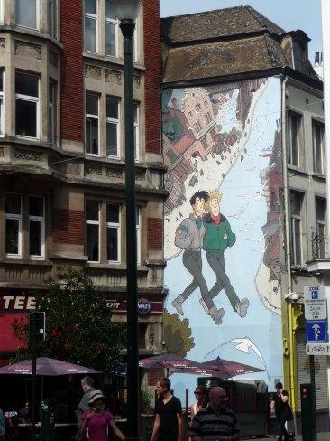 Fumetti sui muri di Bruxelles