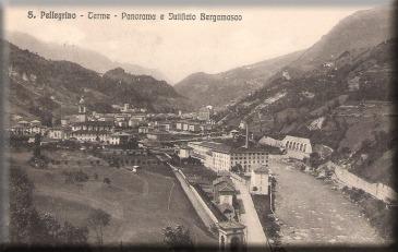 Cartolina di San Pellegrino Terme, inviata nel 1914