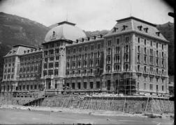 Il Grand Hotel, in fase di ultimazione