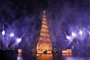 L'albero di Natale a Rio de Janeiro