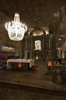 La cappella interamente realizzata con il sale nella miniera di Wielicka
