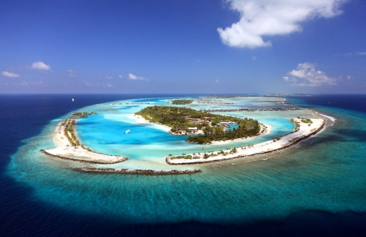 Una delle isole dell'atollo di Malè