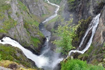 La cascata Voringfossen