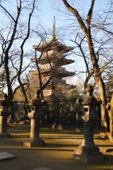 Uno dei templi al Parco di Ueno