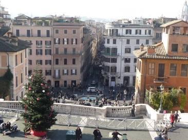 La vista su Piazza di Spagna
