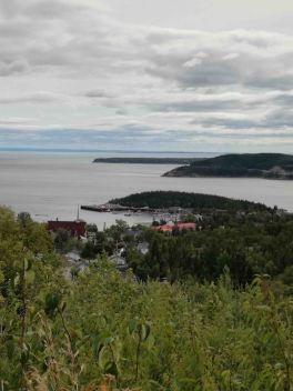 La vista su Tadoussac e il Saguenay