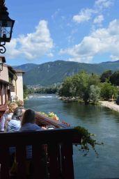 La vista sulle montagne dal Ponte