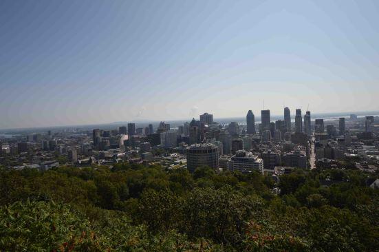 Vista dall'alto su Montréal